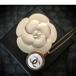 Classic Chanel Button Necklace